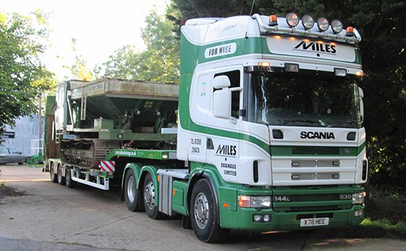 Low Loader Hire, Suffolk, Essex, Miles Drainage