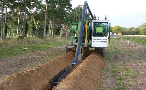 Pipeline Trenching Services, Suffolk, Essex, Miles Drainage