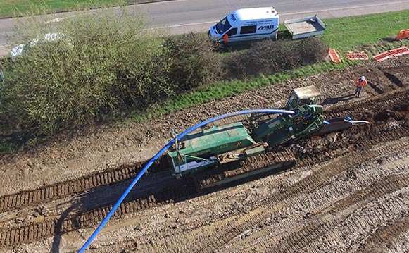 Trenchless Installation, Suffolk, Essex, Miles Drainage
