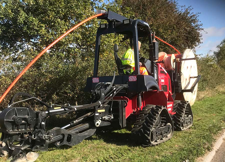Utility Mole Plowing, Miles Drainage, Suffolk